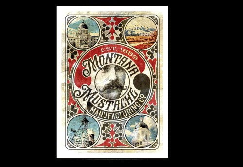 Clockwork Montana Mustache Manufacturing Co Deck