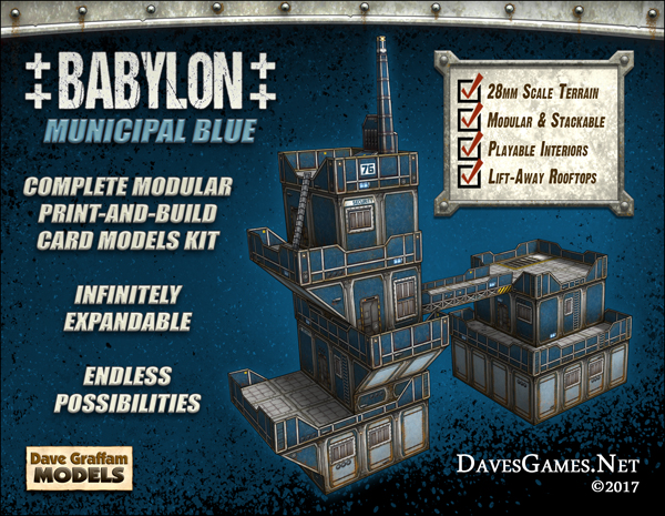 Dave Graffam Models new print-and-build paper model kits, and $1