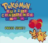 Video Game: Pokémon Puzzle Challenge