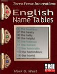 RPG Item: English Name Tables