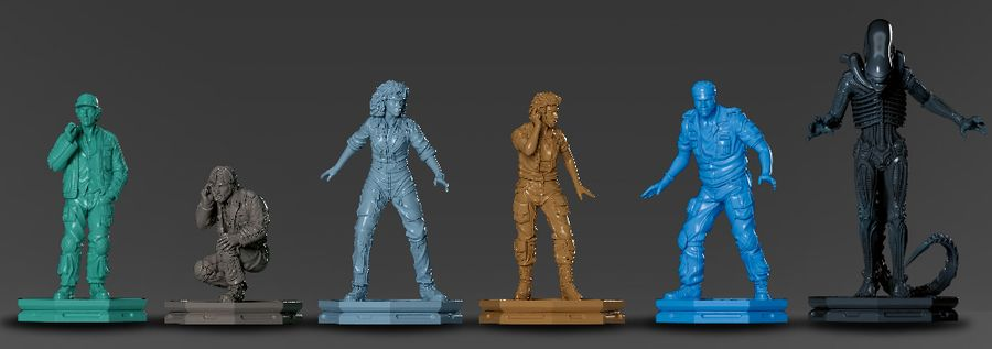 ALIEN: Fate of the Nostromo, Ravensburger, 2021 — figures (image provided by the publisher)