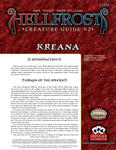 RPG Item: Hellfrost Creature Guide: Kreana