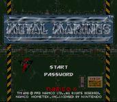 Video Game: Metal Marines