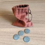 Board Game Accessory: Pax Pamir (Second Edition): Metal Coins & Cloth Bag