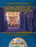 RPG Item: Adventures in Aldea: The Mistress of Gloamhale Manor