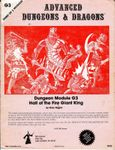 RPG Item: G3: Hall of the Fire Giant King