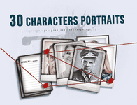 Board Game Accessory: Detective: 30 Character Portraits