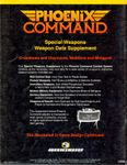 RPG Item: Special Weapons Weapon Data Supplement