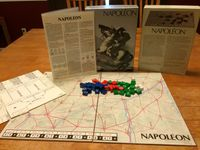 Game components from the 1977 Avalon Hill version.