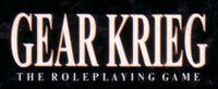 RPG: Gear Krieg (1st Edition)