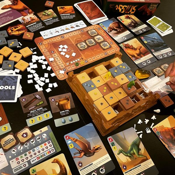 Fossilis game components.