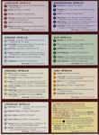 2.0 Spells reference cards