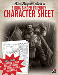 RPG Item: The Player's Helper: 3 Ring Binder Friendly Character Sheet