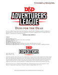 RPG Item: DDEX1-04: Dues for the Dead