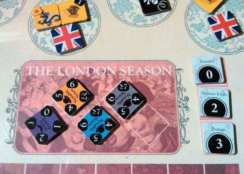 In-game shot of the London Season game board.