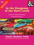 RPG Item: Classic Modules Today A4: In the Dungeons of the Slave Lords