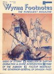 Issue: Wyrms Footnotes (Issue 12 - Volume II, Number 2 - Aug 1981)