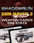 RPG Item: Shadowrun: Gun H(e)aven 3 Weapon Cards