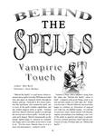 RPG Item: Behind the Spells: Vampiric Touch