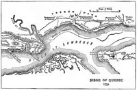 Historical map: the Siege of Quebec