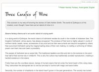 RPG Item: Tales of Entropy: Three Carafes of Wine