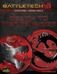 RPG Item: Operational Turning Points: Death to Mercenaries