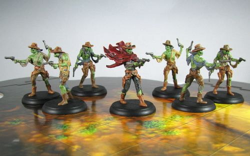Board Game: Shadows of Brimstone: Undead Outlaws and Undead Gunslinger Deluxe Enemy Pack