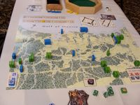 2012 Prezcon final, T5. The Mexicans have already captured San Agustine in the Louisiana border, Nacogdoches is weakly defended by the Texans. Goliad is still besieged. An interesting Mexican strategy!