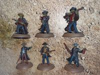 Board Game Accessory: Shadows of Brimstone: The Lost Marshals Miniature Set