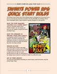 RPG Item: Infinite Power Quick Start Rules