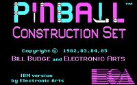 Video Game: Pinball Construction Set