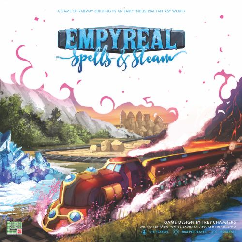 Empyreal: Spells & Steam, Level 99 Games, 2018 — front cover (image provided by the publisher)