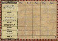 Board Game Accessory: Hansa Teutonica: Score Sheet