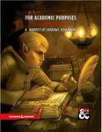 RPG Item: For Academic Purposes