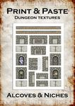 RPG Item: Print & Paste Dungeon Textures: Alcoves & Niches