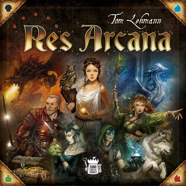Res Arcana, Sand Castle Games, 2019 — front cover (image provided by the publisher)