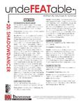 RPG Item: Undefeatable 20: Shadowdancer