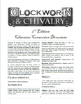 RPG Item: Clockwork & Chivalry 2nd Edition Character Conversion Document