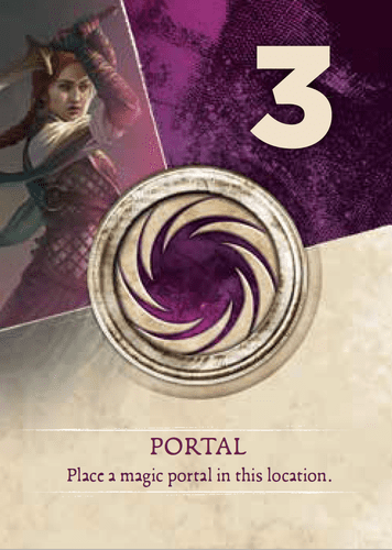Magic Portal - spell from the Soul Raider Zia deck