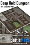 "RPG Item: Deep Hold Dungeon 24"" x 24"" RPG Encounter Map"