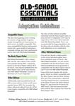 RPG Item: Old-School Essentials Adaptation Guidelines