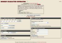 RPG Item: Modern System Character Generator