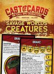 RPG Item: Cast of Cards: Savage Worlds Creatures (Arcane)