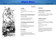Issue: Mythic Times (Issue 1 - Sep 2014)