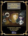 RPG Item: The Solo Investigator's Handbook