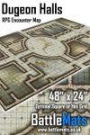"RPG Item: Dungeon Halls 48"" x 24"" RPG Encounter Map"
