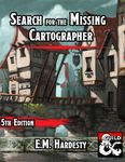 RPG Item: Search for the Missing Cartographer