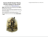 RPG Item: Gamma World Monster Themes - GM Advice: Mutating your D&D Monsters