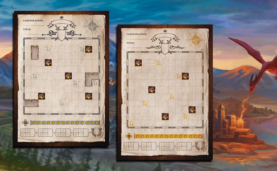 New double-sided map sheets.