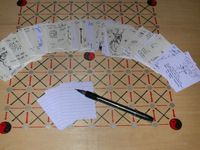 Board Game: 1000 Blank White Cards